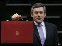 Gordon Brown with his 2006 Budget