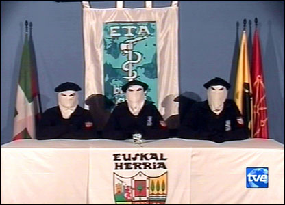 ETA announcing its ceasefire in March 2006