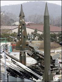 North Korean Scud B missiles on display in a Southern museum