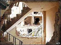 Hotel Riosinhio II, La Paz, Bolivia, tras una explosión.