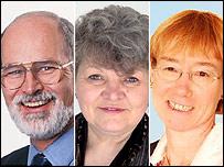 Mike Warburton, Chris Burgess and Anne Redston