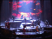 Lord of the Rings stage show.  Photograph Manuel Harlan
