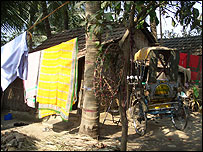 A village scene near Kolkata, in West Bengal