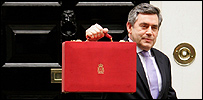 Gordon Brown on Budget day