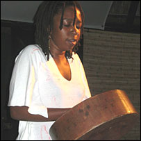 Mbira player Chiwoniso Maraire performing