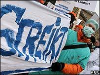 German doctors on strike