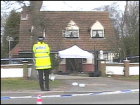 Scene of the doorstep shooting