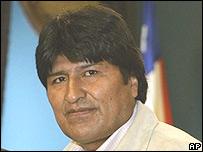 Presidente de Bolivia, Evo Morales.