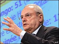 Jacques Barrot, vice-presidente de la Comisión de Transporte de la UE.