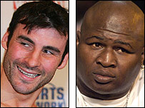 Joe Calzaghe and James Toney