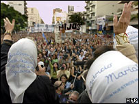 Members of the Argentine human rights group Mothers of Plaza de Mayo