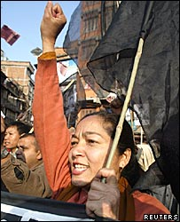 Anti-monarchy protest in Kathmandu