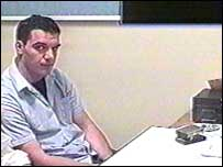 Hugo Quintas during police interview