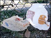 Plastic bags.  Image: AP