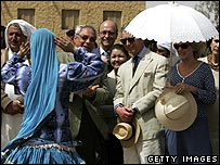 Charles and Camilla in Siwa, Egypt