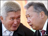 President Bakiev (left) and Prime Minister Kulov