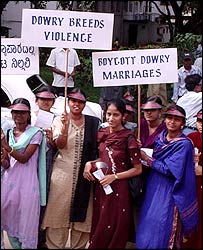 Indian protest against dowries