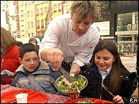 Jamie Oliver and children