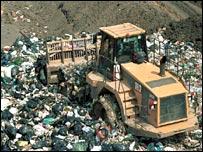 Landfill site.  Image: BBC
