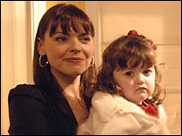 Kate Ford and Madison Hampson in Coronation Street