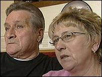 Kimberley's parent's Keith and Pat Fuller