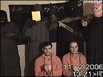 German engineers Rene Braeunlich and Thomas Nitzschke who were taken hostage in Iraq on 24 January 2006