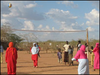 Girls playing volleyball in Dadaab refugee camp (Copyright: A Ceschi)