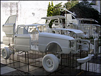 Sculpture of the Ford Falcon at the Recoleta Culture Centre in Buenos Aires