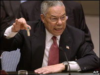 Colin Powell, February 2003, at the Security Council.