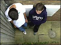 Anonymous teenage boys