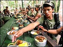 Imagen de archivo de miembros de las FARC.