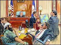 Artist impression of trial