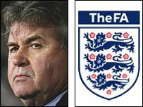 Guus Hiddink and the FA badge
