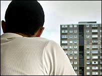 Man in Tower block