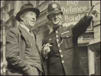 A policeman in Exeter during World War II