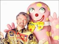 Noel Edmonds with Mr Blobby