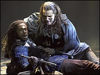 Dion Johnson (Boromir), Evan Buliung (Strider) from the World Premiere production of The Lord of the Rings