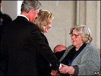 Sarah Caldwell with Bill and Hillary Clinton