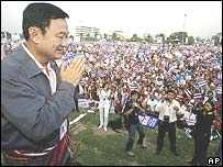 Mr Thaksin meets supporters in Udonthani province
