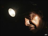 Minero en Oruro, Bolivia.