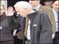 Norman Kember arrives at Heathrow