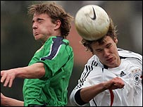 Action from Northern Ireland v Germany Under-17s