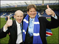 Reading boss Steve Coppell and chairman John Madejski