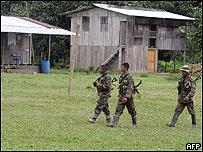Tropas del Ejército colombiano en Putumayo.