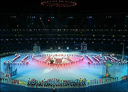 The closing ceremony of the Commonwealth Games in Melbourne