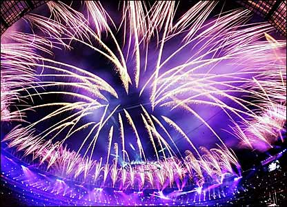 Fireworks at the Melbourne Cricket Ground