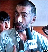 Abdul Rahman is interviewed during a hearing in Kabul