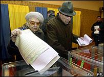 Voters in Kiev