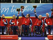 Britain's wheelchair curling team