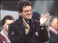 Juventus manager Fabio Capello